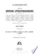 Jahresberichte f  r neuere deutsche literaturgeschichte