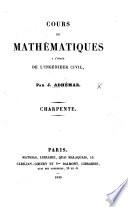 Cours de mathematiques ... Charpente