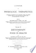 A System of Physiologic Therapeutics  Dietotherapy and food in health