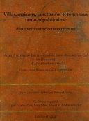 Villas  maisons  sanctuaires et tombeaux tardo r  publicains Book PDF