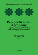 Perspectives For Agronomy Adopting Ecological Principles And Managing Resource Use book