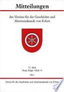 Mitteilungen des Vereins für die Geschichte und Altertumskunde von Erfurt
