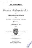 Buch- un Kunst-Katalog: Verlags-Kataloge der Verleger der Länder der Österreichisch-Ungarischen Krone (3 v. )