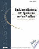 Realizing E business with Application Service Providers