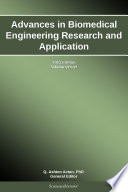 Advances In Biomedical Engineering Research And Application 2013 Edition