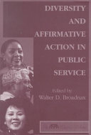 Diversity and affirmative action in public service