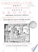 Vocabolario Degli Accademici Della Crusca