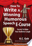 How to Write a Winning Humorous Speech  Ecourse