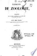 Elements de zoologie