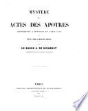 Myst  re des Actes des Ap  tres
