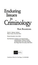 Enduring Issues in Criminology