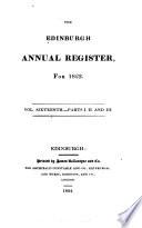 The Edinburgh Annual Register