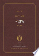 How May We Hate You  Book PDF