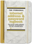 The Personal Internet Address Password Logbook Marble