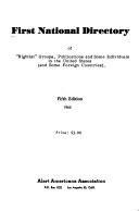 First national directory of  rightist  groups