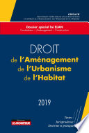 Droit De L Am Nagement De L Urbanisme De L Habitat 2019