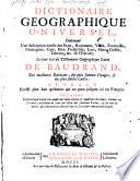Dictionnaire geographique universel ...