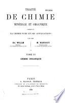 Traité de chimie minérale et organique: Chimie organique