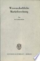 Wissenschaftliche Marktforschung