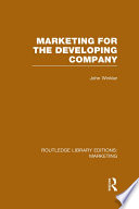 Marketing for the Developing Company  RLE Marketing