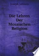 Die Lehren der Mosaischen Religion