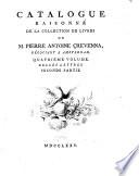 Catalogue raisonn   de la collection de s  livres de M  Pierre Antoine Crevenna  Belles lettres