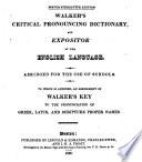 Walker s Critical Pronouncing Dictionary