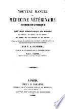 illustration Nouveau Manuael de médecine vétérinaire homoeopathique. ... Traduit de l'Allemand sur la troisième édition par P. J. Martin