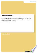 Besonderheiten der Due Diligence in der Volksrepublik China