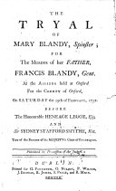 download ebook the tryal of mary blandy ... for the murder of her father, francis blandy ... at the assizes held at oxford ... on saturday the 29th of february, 1752, etc pdf epub