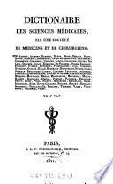 Dictionaire Des Sciences M  dicales  Par Une Soci  t   De M  dicins Et De Chirurgiens