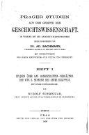 Studien über das Handschriften-Verhältnis der vita S. Severini des Abtes Eugippius, mit einer Editionsprobe