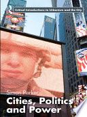 Cities  Politics   Power