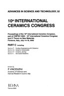 10th International Ceramics Congress  Section F  Surface engineering with ceramics  Section G  Ceramic composites  Section H  Ceramic joining  Section I  Structural ceramics