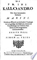 De Prins Kalloandro Des Seer Beroemden Italiaens Marini