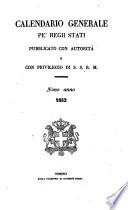 Calendario generale pe' regii stati