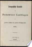 Stenographische Protokolle des Bukowinaer Landtages