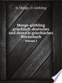 Menge g thling griechisch deutsches und deutsch griechisches W rterbuch
