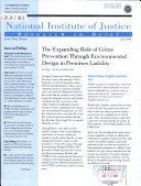 The Expanding Role of Crime Prevention Through Environmental Design in Premises Liability