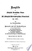 Rangliste der k  niglich Preussischen Armee