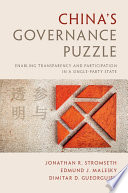 China s Governance Puzzle