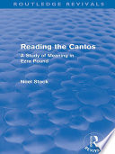 Reading the Cantos  Routledge Revivals