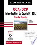 OCA   OCP  Introduction to Oracle9i SQL Study Guide