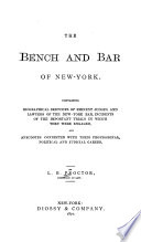 The Bench and Bar of New York