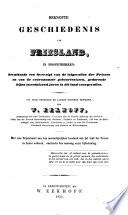 Beknopte geschiedenis van Friesland, in hoofdtrekken