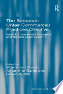 The European Unfair Commercial Practices Directive book