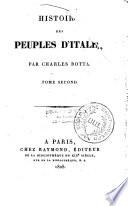 Histoire des peuples d'Italie