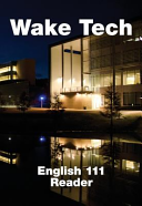 Wake Tech English 111 Reader book