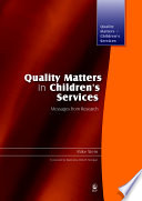 Quality Matters In Children S Services