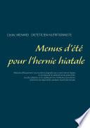 illustration du livre Menus d'été pour l'hernie hiatale